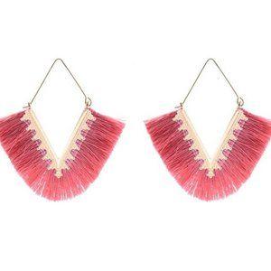 3/$20 New Pink & Gold Tassel Boho Earrings